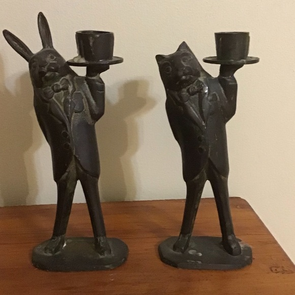 Other - Mad hatter tea party style candle sticks